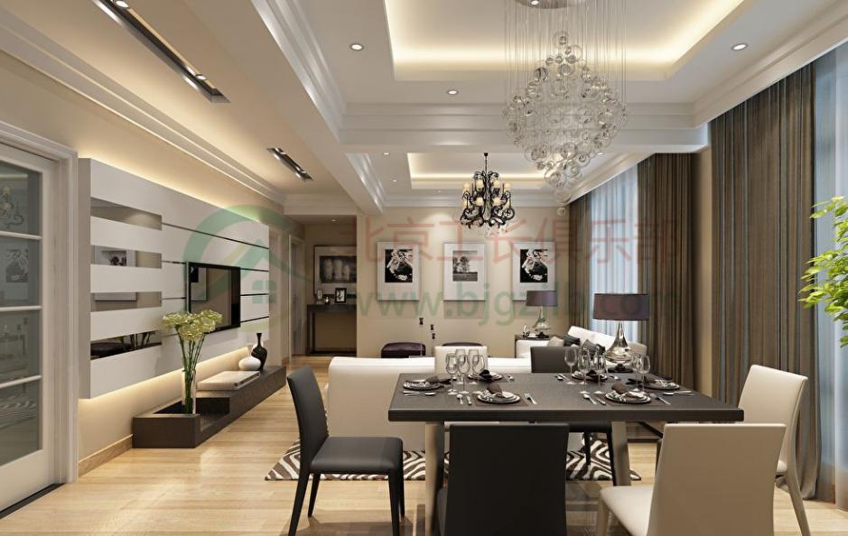 餐廳和客廳布置效果圖