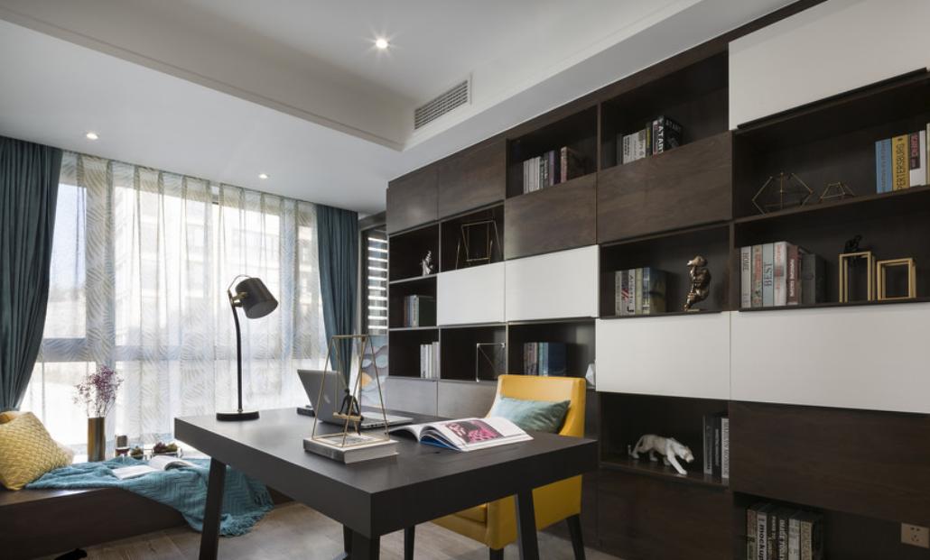 書房裝修設計效果圖_家裝書房案例