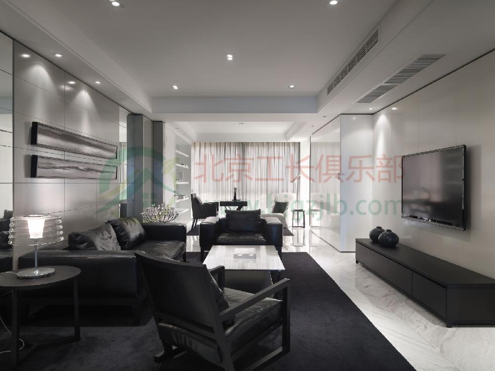 北京懷柔區頂秀美泉小鎮A區裝修案例 現代二居室89㎡半包家裝