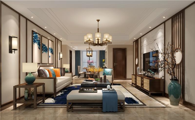 裝修設計主題:120㎡典雅新中式_三居室設計_北京裝修設計