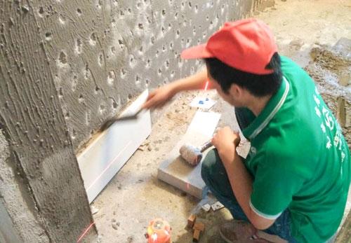 北京市朝陽區新源西里老房裝修施工工地