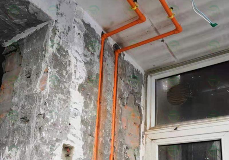 北京市通州區通胡大街15號院工長老房裝修施工現場