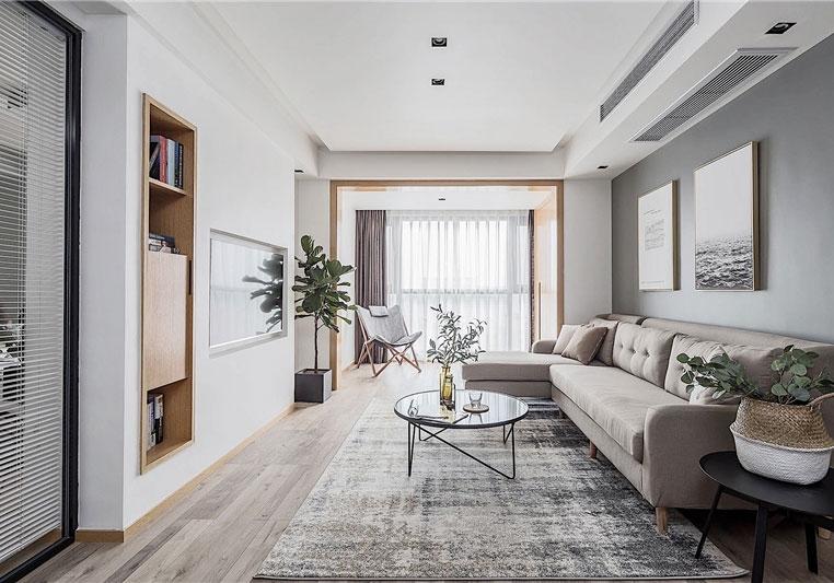 純白透明現代風三居室裝修