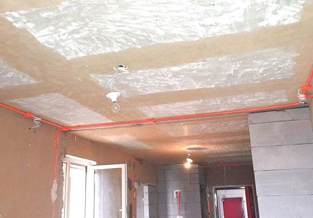 北京市通州區東惠家園二居室工長新房裝修施工現場
