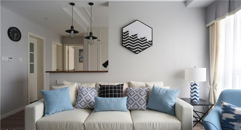 現代簡約純白二居室