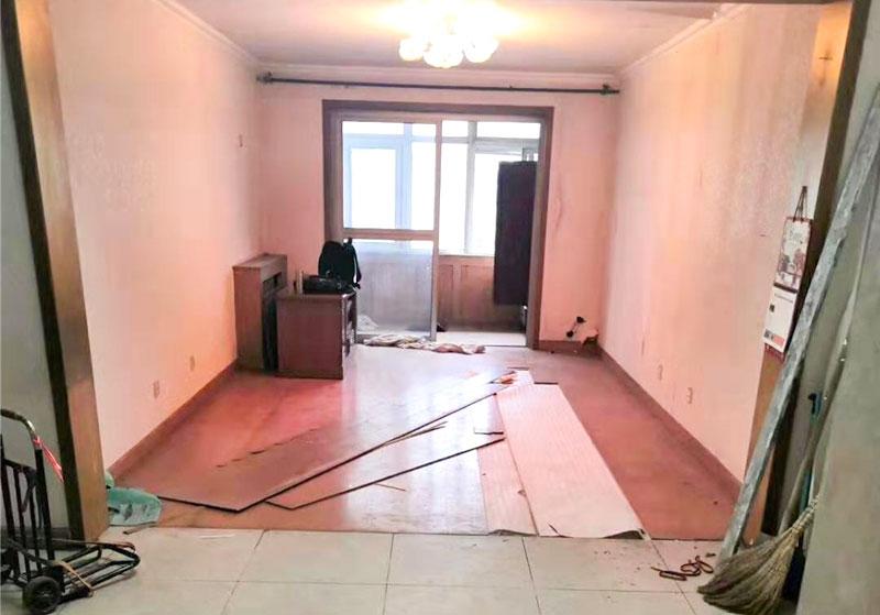 北京市大興區清逸西園工長老房裝修施工現場