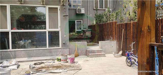北京市豐臺區長安新城一區小院裝修施工現場