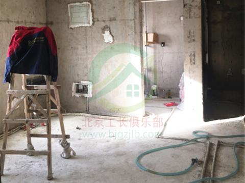 北京市昌平區北七家國瑞熙墅東區三居室裝修施工現場
