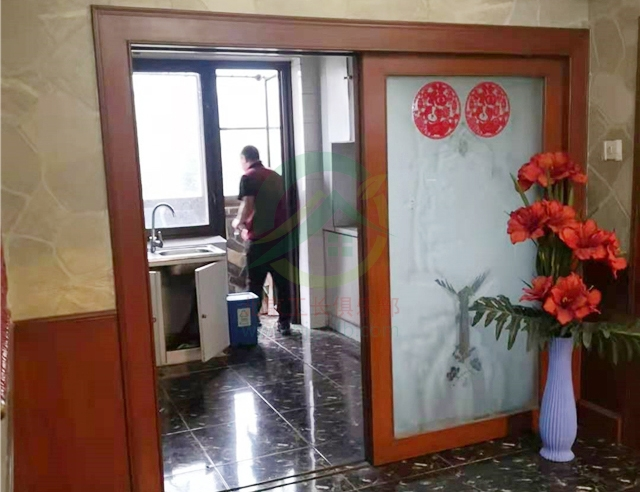 北京市大興區九龍山莊三居室老房裝修施工現場