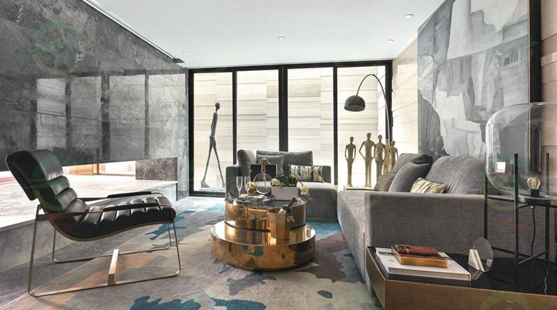 北京市大興區新中式別墅復式和成璟園小區施工工地